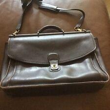 Vintage Coach Brown Leather Briefcase