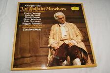 VERDI UN BAL MASQUE BALLO MASCHERA ABBADO 3 LP VINYLE 1981 DEUTSCHE GRAMMOPHON