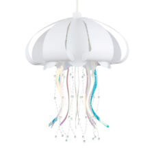 LED Ceiling Pendant Shade Non Electric White Jellyfish Design Bulb Kids Bedroom