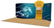 Trade show A9 Display booth package S 20ft (TV stand, Display shelves, Kiosk)