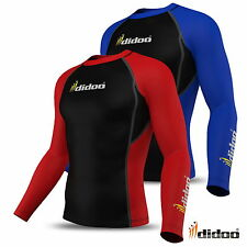 Didoo Mens Compression Base Layer Full Sleeve Thermal Top Body Armour Cold Wear