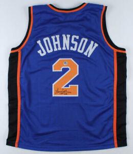 Larry Johnson Signed New York Knicks Jersey (Pro Player Hologram) #1 Pick 1991