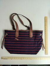 Croft & Barrow NAVY Blue-Red Anchor Ropes Tote Purse - FLASH SALE