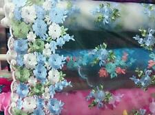 1Yard Lace Fabric Flower Embroidered Tulle Evening Dress Sewing Craft 51'' Wide