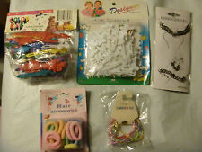 Mixed girls  accessories new -Hair clips, scrunches, bracelets and more 5 PKs.