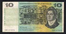 Australia R-302F. (1967) Ten Dollars - Coombs/Randall.. 1st Prefix SDR..  aFine