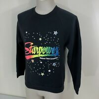 Vintage 80s Starpower National Talent Competition 50/50 Black Sweatshirt S/M 90s