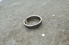 Sterling Silver Bali Style Adjustable Toe Ring, Tribal Toe Ring, Midi Ring