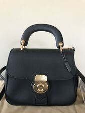 Burberry Trench Small Leather Top Handle Bag, Black(Authentic)