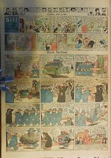 Boob McNutt Sunday by Rube Goldberg from 4/13/1930 Large Rare Full Page Size!
