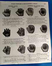 Antique Baseball glove guides books masks Wyeth Shield Price list advertising