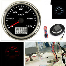 0-120km/h 8-Color Backlight 85mm Car Truck GPS Speedometer Odometer With Antenna