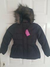 HARPER GIRL Beautiful Girls Children Black Jacket Hooded Faux Fur Size 4-5 Years