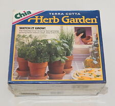 1995 CHIA TERRA COTTA HERB GARDEN NEW SEALED