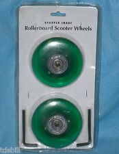 New Sharper Image Rollerboard Scooter Wheels Green w/ 2 Allen Wrenches Gt901-Grn