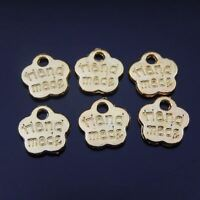 8*8mm Gold Tone Alloy Hand Made Flower Charm Pendant Jewelry Finding Hot 36380