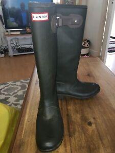 Hunter original tour boots size 7