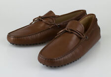 New TOD'S Brown Leather Moccasin Loafers Boat Shoes Size 10 UK 11 US $445