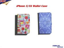 Card Wallet Case with Stand by Laser for iPhone SE 5 5S