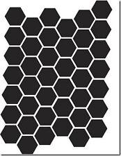 HONEYCOMBE A5 FLEXIBLE REUSEABLE MYLAR STENCIL - SHAPE APPROX 2.2cm x 2.5cm