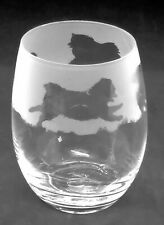 More details for pomeranian frieze boxed 36cl crystal stemless wine / water glass