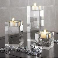 Crystal Cylinder Vases Tea Light Candles Holder Wedding Centerpieces