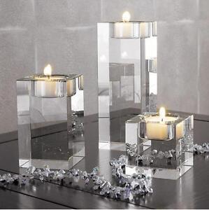 Crystal Cylinder Vases Tea Light Candles Holder Wedding Centerpieces