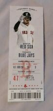 Boston Red Sox Vs Toronto Blue Jays 7/20/17 unused MLB Ticket