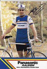 CYCLISME carte  cycliste WALTER PLANCKAERT équipe PANASONIC raleigh 1984