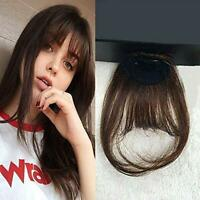Clip in Bangs Remy Human Hair Extensions Hair Pieces Air Bangs with Temples Real