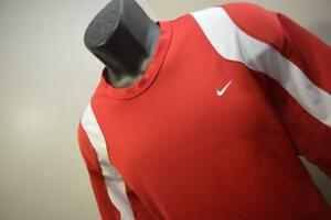 Nike Tennis Gym Shirt Dri Fit Red Short Sleeve Athletic Mens Size Large