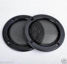 "2pcs 2"" inch 1# Tweeter Audio Speaker Cover Decorative Circle Metal Mesh Grille"