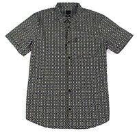 Armani Exchange Mens Shirt Black Size XL Button Down Slim Fit Stretch $75 #055