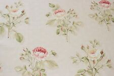 Sanderson curtain/upholstery fabric design English Rose red/sand 1.5 metres