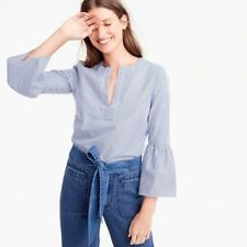 New JCrew Striped Bell-sleeve Top Sz 14 G5174 White Blue Sold Out SPRING 2017