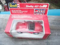 MIB REVELL SHELBY 427 COBRA 1:24 SCALE RED DIECAST ROADSTER CAR 8617 RARE HTF