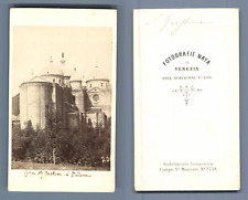 Carlo Naya, Italia, Padova, Basilica di Santa Giustina CDV vintage albumen.  T