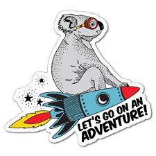 Flying Rocket Koala Adventure Funny Sticker cute  #7292EN