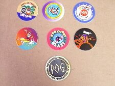 POGS/MILKCAPS POG THE GAME 1995  COMPLETE SET OF (6+1) AWESOME