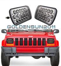 2x LED  Headlights For 1986-1995 Jeep Wrangler 1984-2001 Cherokee High Quality