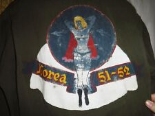 US Korean War GI Mechanic Coverall w/ F86 Sabre Original Pin Up Vet Artwork