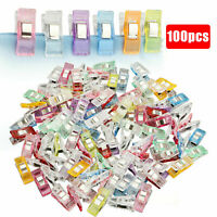 Multicolor Wonder Clips Clamp DIY Craft Quilting Sewing Knitting Crochet 100PCS
