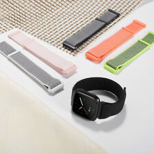 For Fitbit Versa 2 1/Lite/SE L/Small Woven Nylon Loop Sport Band Strap Wristband