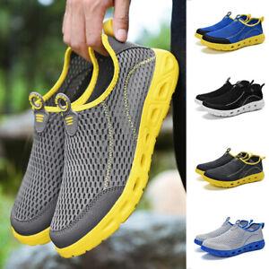 US Men's Water Shoes Athletic Outdoor Sport Slip on Walking Sneakers Mesh Beach