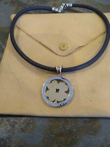 BVLGARI BULGARI Tondo Clover Pendant Necklace 18k Yellow Gold