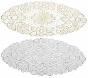 Pack of 6 Floral Lace Oval Doilies Traditional Doyleys Vintage Home Table Mat