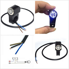 "22mm 7/8"" Waterproof LED ATV Handlebar Mount Switch Headlight Brake Lamps On-Off"