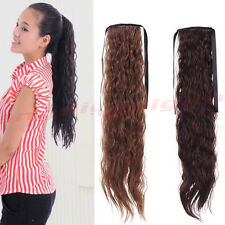 Women's Girl's Synthetic Long Curly Wavy Ponytail Hair Extensions 58cm