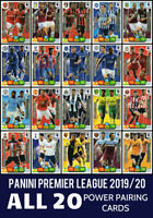 PANINI ADRENALYN XL PREMIER LEAGUE 2019/20 FULL SET OF 20 POWER PAIRING CARDS