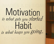 Wall Quote Decal Sticker Vinyl Art Removable Develop Good Habits Motivation I71